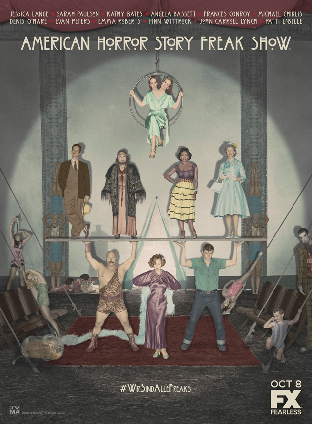 American Horror Story: Freak Show, il cast in un poster!